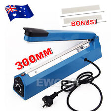 "12"" Impulse Heat Sealer 300mm Electric Plastic Poly Bag Hand Sealing Machine"