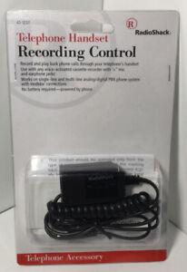 Radio Shack Telephone Handset Recording Control 43-1237