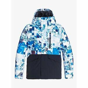 Quiksilver Mission Block Youth Jacket Brilliant Blue 2021 Jacket Snowboard Ra