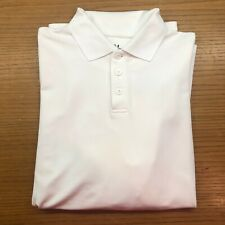 Under Armour Men's Golf Shirt - long-sleeve, solid white, size Large