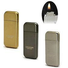 2017 3PCS Mini Plating Metal Cigarette Lighter Flint Refill Butane Gas Lighter