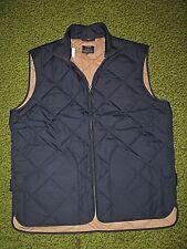 $150.Men's (S) J.CREW Navy Blue Quilted Vest