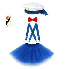 SAILOR COSTUME Kids Ladies Retro Navy Outfit  Sea Hen Party FANCY DRESS