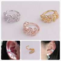 Shiny Crystal Nose Ring Hoop Rook Helix Ear Stud Cuff Cartilage Piercing Jewlery
