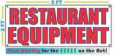 RESTAURANT EQUIPMENT Banner Sign NEW Larger Size Best Quality for The $$$