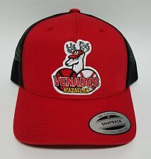 Venados De Mazatlan Hat Red Black Mesh Trucker Snap Back Adjustable New.