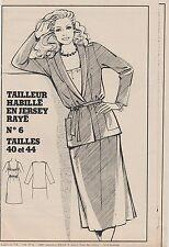 Patron couture Femmes d'Aujourd'hui Tailleur habillé T40 et 44