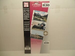 """(1) Holson Refill Pages B30, 60 4""""x6"""" Pockets Ring Bound PagesNEW"""