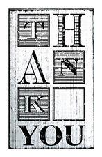 Saying Thank You Stamp Vintage Stamps Mounted White Washed Wood Block