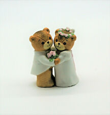 Lucy & Me Enesco Vintage Wedding Couple Bear Figurines 1980