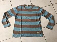 Pull IKKS taille 10 Ans bleu/marron