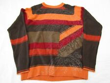 Billabong Women's Sweater Size Medium Fall Colors Brown Orange Red