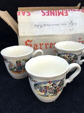 Lot de 5 tasses café Sarreguemines modèle Obernai dans sa boite d'origine