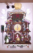 Danbury Mint Santa's Workshop Cuckoo Clock NIB