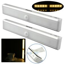 2x 10 LED Wireless Night Light Motion Detector Sensor Closet Cabinet Light Lamp