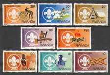 Rwanda 1982 Scouts/Bird/Fire/Antelope 8v set (n22268)