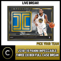 2018-19 PANINI IMPECCABLE BASKETBALL 3 BOX (CASE) BREAK #B092 - PICK YOUR TEAM