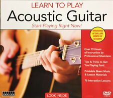 Learn To Play Acoustic Guitar 76 Interactive Lessons 12 DVDs Latest Edition