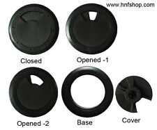 Dia 60 mm DESK CABLE TIDY OUTLET PLASTIC ROUND CIRCLE GROMMET INSERT