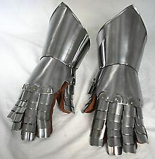 Platten Ritter Handschuhe Larp Rüstung Ritter Helm Reenactment Ketten Leder  R21