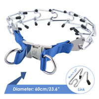 Metal Steel Pet Dog Pinch Prong Choke Chain Collar Training Gear Adjustable