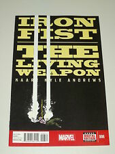 IRON FIST LIVING WEAPON #6 MARVEL COMICS NM (9.4)
