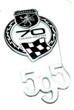 500 Abarth 595 70th Anniversary Badge Logo Emblem Turismo Competizione  New