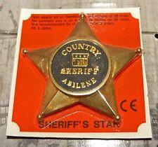 Sheriff Stern Country Sheriff Abilene aus Metall von Edison Giogatoli 90er Jahre