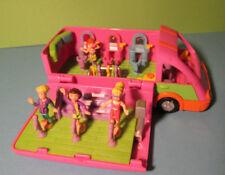 Polly Pocket Mini ♥ Cooler Disco Tour Bus ♥ Popstars on Tour ♥ und 4 Pollys ♥