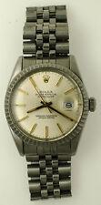 Vintage Rolex Ref 16030 DateJust Watch Stainless Steel Quickset Jubilee 1984