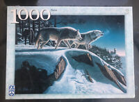 FX Schmid 1000 Piece Jigsaw Puzzle Moonlight Prowlers by Kim Norlien 2002 NEW