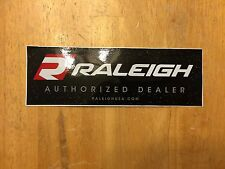 "Raleigh Bikes Authorized Dealer Window Decal - Black - 7.5"" X 2.5"""