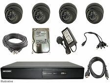 Hikvision 4 Channel Turbo HD-TVI Hybrid DVR With 500GB & 4 Cameras & Install Kit