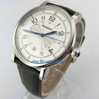 43mm Debert White Dial Stainless Steel Case Automatic Men Wristwatch 1838