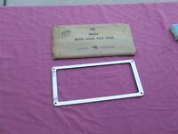 1956-57 Pontiac accessory license plate frame, NOS! 988606