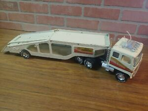 Vintage Nylint GMC Astro 95 Car Hauler Semi Truck Pressed Steel Toy. Made in USA