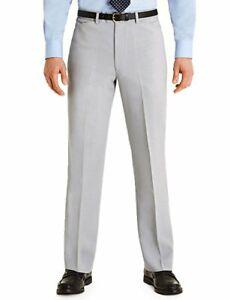 Farah Frogmouth Casual Suit Trousers Silver Zinc Regular Fit W44 L31