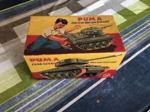 Jouet ancien Tank géant PUMA, marque CHR France