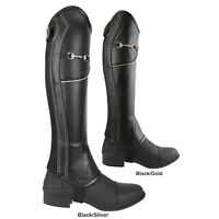 AK Bit Chain Horse Riding Half Chaps with Extra Leather Protection inside