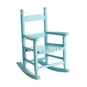 Kids Rocking Chair Wood Living Room Home Furniture Traditional Design - Blue