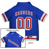 New York Rangers NHL Pets First Licensed Dog Pet Hockey Jersey, Blue Sizes XS-XL