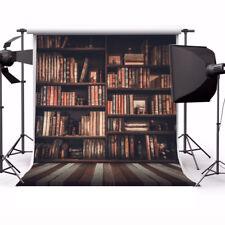 10x10ft Vinyl Prop Background Photo Studio Backdrop Show Indoor Books Wood Floor