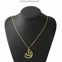 Allah Halskette Islamisch Muslim Kette Anhänger Muhammed Schmuck Geschenk Silber