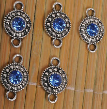 20 Tibetan silver silvering Crystal Earrings azure Jewelry Findings Connectors