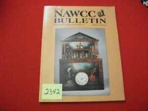 NAWCC BULLETIN VOL 31/4 #261 AUG. 1989 HOROLOGY CUCKOO CLOCKS POCKET WATCH MORE
