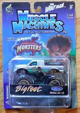 MUSCLE MACHINES The Wolfman Bigfoot Monster Truck Mosc New Grey MO64-03-12