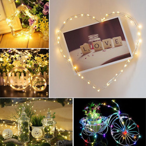 Wire LED String Lights 20M or 10M 5M Solar Powered Copper Waterproof