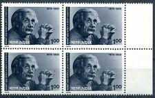 India 1979 - Scientist, Einstein Block of 4 MNH