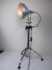 Large-Tripod- chrome -Floor-Standard-Lamp-Lounge- industrial lamp