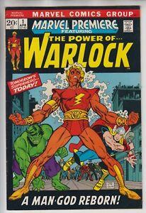 MARVEL PREMIERE # 1 -VFN  KEY 1ST APP WARLOCK & 1ST SOUL-GEM CENTS 1972